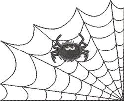 Spider Web & Spider 4 embroidery design
