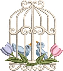 Sweet Birdcage 01 embroidery design
