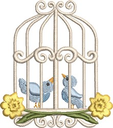 Sweet Birdcage 02 embroidery design