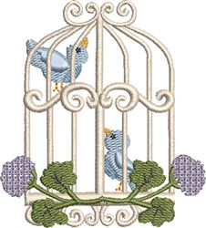Sweet Birdcage 03 embroidery design