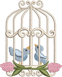 Sweet Birdcage 04 embroidery design