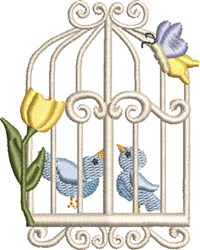 Sweet Birdcage 05 embroidery design