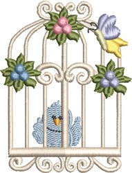 Sweet Birdcage 06 embroidery design