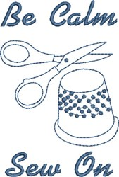 Be Calm Sew On embroidery design