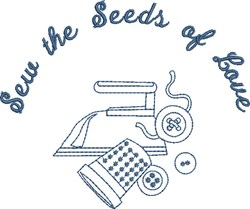 Sew the Seeds embroidery design