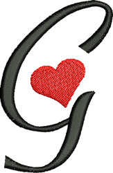 Sweetheart G embroidery design