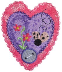 Sew Heart Applique embroidery design