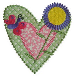 Sew Cute Applique with Butterfly & Daisy embroidery design