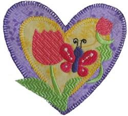 Sew Applique Heart embroidery design