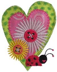 Sew Ladybug Applique embroidery design