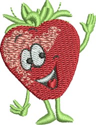 Waving Strawberry embroidery design