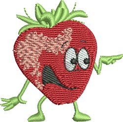 Talking Strawberry embroidery design