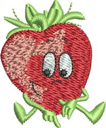 Sitting Strawberry embroidery design