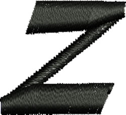 Lower Case z embroidery design
