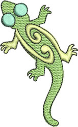 Stylish Gecko embroidery design
