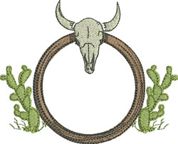 Western Motif embroidery design