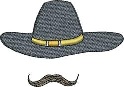 Cavalry Hat & Mustache embroidery design