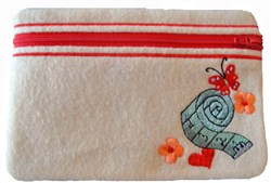 ITH Sewing Accessories Zippered Pouch embroidery design