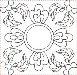 ITH Painted Tile Quilt Block 5 embroidery design