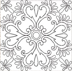 ITH Painted Tile Quilt Block 8 embroidery design
