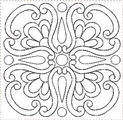 ITH Painted Tile Quilt Block 11 embroidery design