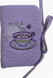 English Tea Bag Holder with Spoon embroidery design