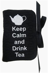ITH Tea Bag Holder with Spoon - Keep Calm embroidery design