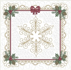 ITH Spectacular Snowflake Quilt Block embroidery design