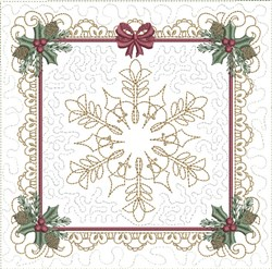 ITH Timeless Christmas Quilt Block embroidery design