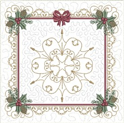 ITH Christmas Quilt Block embroidery design