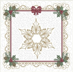 ITH Christmas Time Quilt Block embroidery design