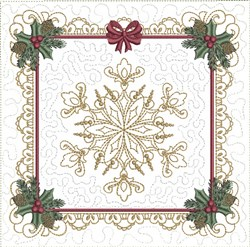 ITH Snowflake Quilt Block embroidery design