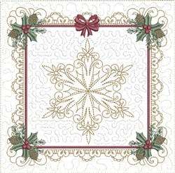 ITH Classic Snowflake Quilt Block embroidery design