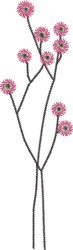 Tall Floral 3 embroidery design