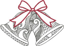 Blackwork Art Bells embroidery design