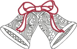 Starred Bells embroidery design