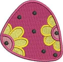 Flower Power Guitar Pick embroidery design