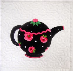 ITH Teapot Quilt Blk 1 embroidery design