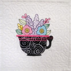ITH Teacup Quilt Blk 2 embroidery design