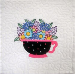 ITH Teacup Quilt Blk 3 embroidery design