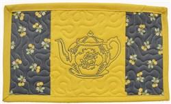 Tea Time Mug Mat embroidery design
