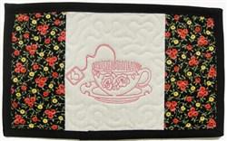 Tea Cup Mug Mat embroidery design