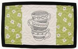 Tea Cup Mat embroidery design