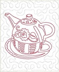 Round Pot Mug Mat Block embroidery design