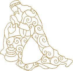 Praying Wiseman embroidery design