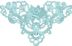 Elegant Rose Lace embroidery design