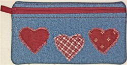 ITH Sweetheart Zip Pouch  embroidery design