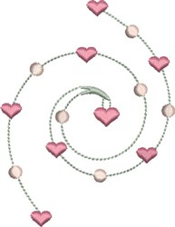 Sweetheart Necklace embroidery design