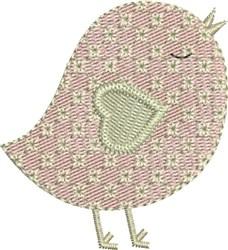 Sweetheart Birdie embroidery design