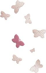 Translucent Butterflies embroidery design